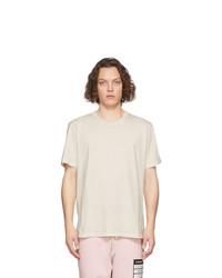 Мужская бежевая футболка с круглым вырезом от Maison Margiela