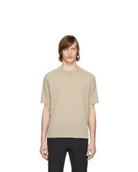 Мужская бежевая футболка с круглым вырезом от Z Zegna