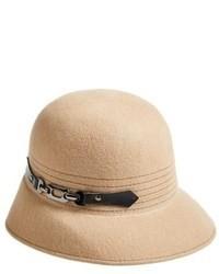 Бежевая шерстяная шляпа