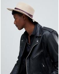 Мужская бежевая шерстяная шляпа от ASOS DESIGN