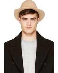 Мужская бежевая шерстяная шляпа от Undercover