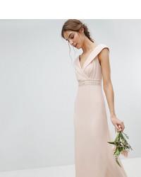 a5d9025cf00 Купить бежевое вечернее платье с украшением - модные модели вечерних ...