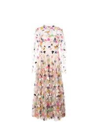 3fece9624eb Купить бежевое вечернее платье с цветочным принтом - модные модели ...