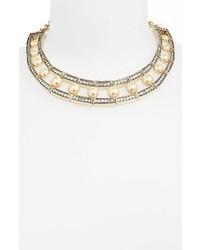 Бежевое жемчужное ожерелье