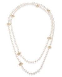 Женское бежевое жемчужное ожерелье от Adriana Orsini