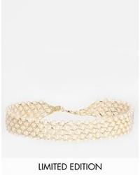 Бежевое жемчужное ожерелье от Asos