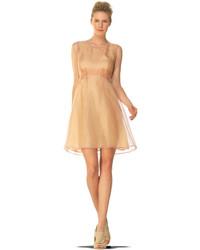 c7a6c2ba0c7 Купить бежевое коктейльное платье - модные модели коктейльных платьев