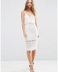817ac773609 ... Женское бежевое кружевное платье-футляр от Asos ...