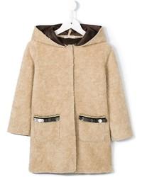Детское бежевое пальто для девочке