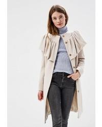 Женское бежевое пальто от Anastasya Barsukova