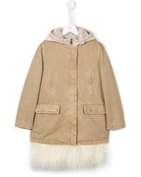 Детское бежевое пальто для девочке от Ermanno Scervino