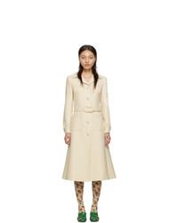 Женское бежевое пальто от Gucci