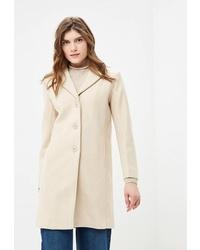 Женское бежевое пальто от Incity