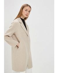 Женское бежевое пальто от la Biali