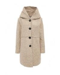 Женское бежевое пальто от Lovini