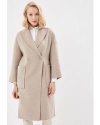 Женское бежевое пальто от Lusio