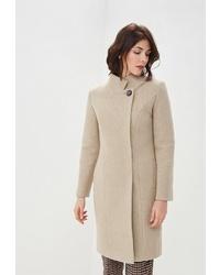 Женское бежевое пальто от Rosso Style