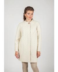 Женское бежевое пальто от Shartrez