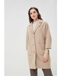 Женское бежевое пальто от Tom Farr