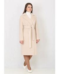 Женское бежевое пальто от Trifo