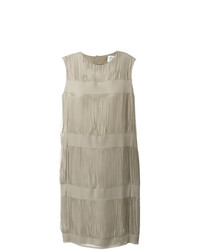 Женское бежевое платье прямого кроя от Maison Margiela