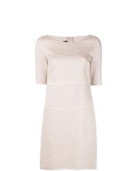 Женское бежевое платье прямого кроя от Talbot Runhof