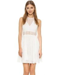 Бежевое платье с вышивкой от Rebecca Minkoff
