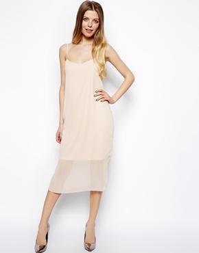 Фото шифоновое платье миди