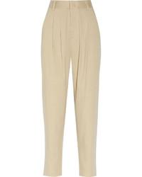Бежевые брюки-галифе