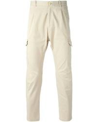 Бежевые брюки карго