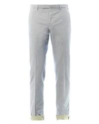 Бежевые брюки чинос в вертикальную полоску