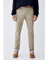 Бежевые брюки чинос от Pull&Bear