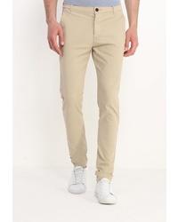 Бежевые брюки чинос от Topman