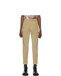 Бежевые вельветовые брюки чинос