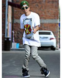 Мужские бежевые джинсы от KR3W