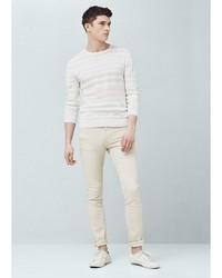 Мужские бежевые джинсы от Mango Man