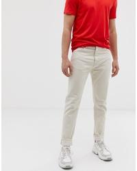 Мужские бежевые джинсы от Weekday