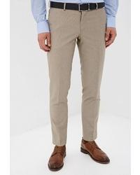 Мужские бежевые классические брюки от Absolutex