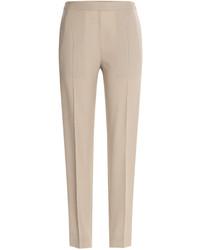 Женские бежевые классические брюки от Maison Margiela