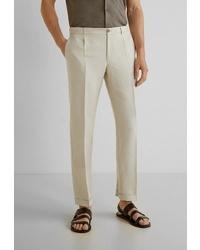Мужские бежевые классические брюки от Mango Man