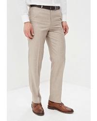 Мужские бежевые классические брюки от Mishelin
