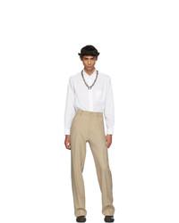 Мужские бежевые классические брюки от Random Identities