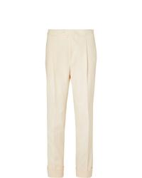 Мужские бежевые классические брюки от Saman Amel