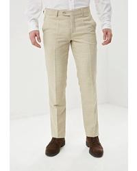 Мужские бежевые классические брюки от STENSER