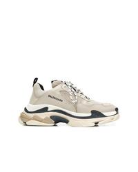 Мужские бежевые кроссовки от Balenciaga