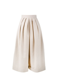 Бежевые льняные широкие брюки от DELPOZO