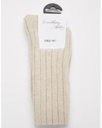 Женские бежевые носки до колена от Jonathan Aston