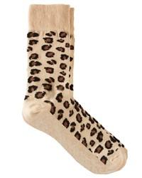 Мужские бежевые носки с леопардовым принтом от Asos