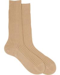Бежевые носки