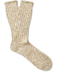 Мужские бежевые носки